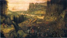 The Suicide of Saul. Pieter Bruegel the Elder. 1562. Oil on panel. 34 x 55 cm. Kunsthistorisches Museum. Vienna.