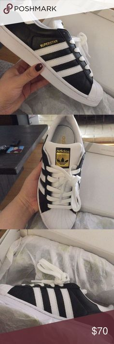 Adidas superstar custom Brand new box size 5.5 women but not true to size. Fits size 7. Ordered these shoes on adidas mi adidas website and was so excited to get! Ordered a half size smaller because I heard these run big turns out they run 1.5 sizes too big. I was so sad. So selling just get earn some cash on my loss. These are so dope I love them but way to big for me Adidas Shoes Sneakers