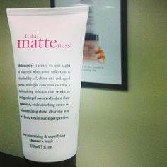our latest love? total matteness pore-minimizing & mattifying cleanser + mask. bye bye, shine! total matteness pore-minimizing & mattifying cleanser + mask on philosophy.com