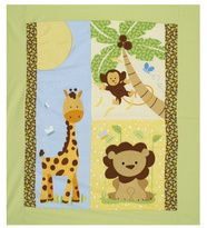 """Quilt Panel from Hancock Fabrics for Lawrance's """"cutesy"""" item.  Couldn't find a product description, but I think this is like the top portion of a crib quilt and then you finish it off by sewing sides and back of quilt."""