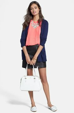 kate spade new york cardigan, Ted Baker London Top & Joie Bermuda Shorts  available at #Nordstrom