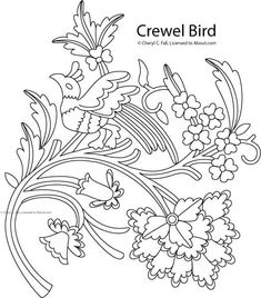 crewel bird pattern About.com Embroidery