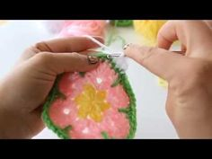 Crochet: African Flower Hexagon Tutorial - YouTube I think this is the same video very well done I don't care for the white outside the possibilities are endless with a yellow Center and a green outer