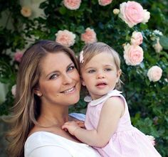 Princess Madeleine of Sweden is pictured with her 17-month-old daughter Princess Leonore
