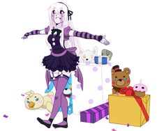 A remake of my version of the Marionette from Five Nights At Freddy's 2. Character© Scott Cawthon Art© squishe-pie