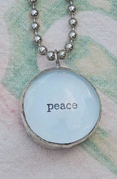 peace.  Double Sided Bauble