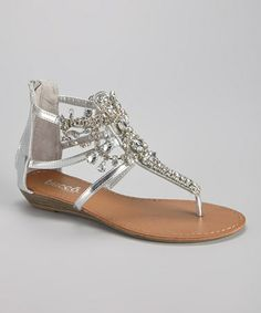 d338131099df Another great find on  zulily! Silver Destiny Sandal by Bucco  zulilyfinds  Shoe Wardrobe
