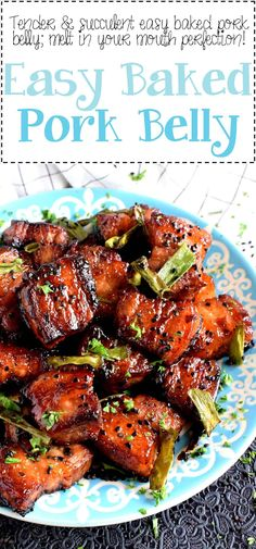 Easy Baked Pork Belly – Lord Byron's Kitchen - Fleisch Sliced Pork Belly Recipe, Pork Belly Recipe Oven, Pork Belly Marinade, Pork Belly Slices, Slow Cooker Pork Belly, Recipes With Pork Belly, Pork Recipes For Dinner, Meat Recipes, Asian Recipes