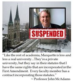 Marquette University continue to sacrifice free speech in the classroom on the altar of political correctness