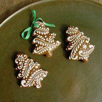 Prodané zboží | Fler.cz Christmas Tree Cookies, Iced Cookies, Christmas Gingerbread, Holiday Cookies, Christmas Desserts, Christmas Treats, Gingerbread Cookies, Bolacha Cookies, Galletas Cookies