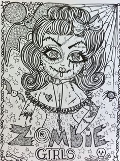 zombie coloring pages | ZOMBIE GiRl Coloring Book for you to color Have by ... | #coloring