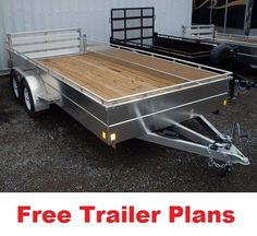"We've developed this page of free trailer plans resources to give you a list of sites containing various types of trailer plan sketches, drawings, pictures and ""how to's"" for do it yourselfers. Work Trailer, Diy Camper Trailer, Free Trailer, Trailer Plans, Trailer Build, Utility Trailer, Semi Trailer, Atv Trailers, Flatbed Trailer"