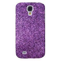 Faux Purple Glitter Samsung Galaxy S4 Cases
