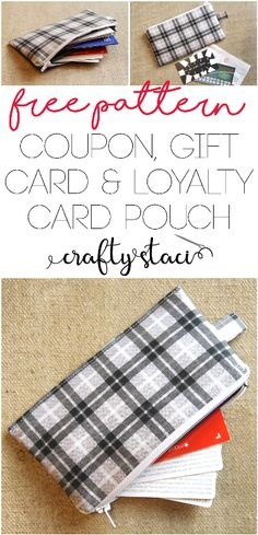Coupon, Gift Card and Loyalty Card Pouch - Free Pattern from Crafty Staci #freesewingpattern #freebagpattern