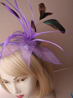 Purple Fascinator with large mesh fabric by ClarasBoutiqueUSA, $19.00