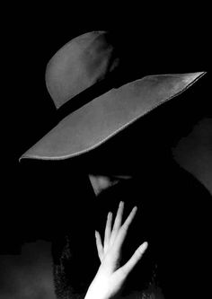 Millinery, hat, hats, black and white photograph