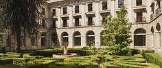 The cloisters at Parador Corias
