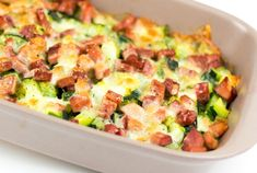 Gratin-Léger-Courgette-Jambon-et-Mozzarella-WW Ww Recipes, Low Carb Recipes, Cooking Recipes, Healthy Recipes, Plats Weight Watchers, Weigh Watchers, Batch Cooking, Coco, Main Dishes