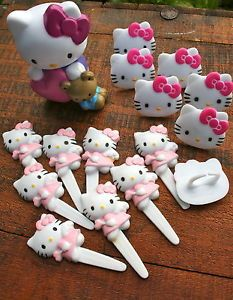 Hello-Kitty-Cake-Decorations-Rings-figurine