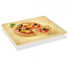 Kwadratowy kamień do pizzy z podstawką