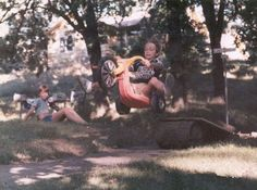 This was the life in the 1970's.  No Helmet, no brakes and NO Crazy Soccer Mom's, just balls to the wall fun!!!