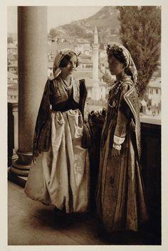 Traditional festive costumes from Sarajevo (Bosnia and Herzegovina), 1926.