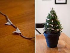 annapolis, wedding blog maryland centerpiece decoration tree holiday winter bunting