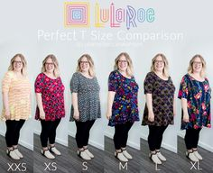 LuLaRoe Perfect Tee Size Comparison - LuLaRoe Becca Swanson #lularoeperfectt #lularoeperfecttee