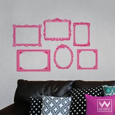 Pink Colorful Picture Frame Photo Frame - Wallternatives wall decals