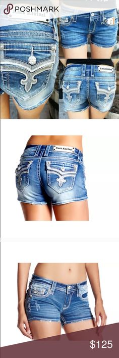 NWT ROCK REVIVAL ENA DENIM SHORTS JEANS SIZE 28 NWT ROCK REVIVAL ENA DENIM SHORTS JEANS SIZE 28 Rock Revival Shorts Jean Shorts