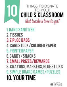 10 school supplies that teachers love to get!