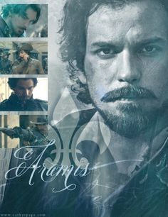 Aramis from The Musketeers series - Santiago Cabrera of course looking gorgeous. Graphic by me.