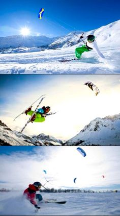 Extreme Sports: Snow-kiting; Flysurfer kiteboarding; The Technium-Snow Kiting