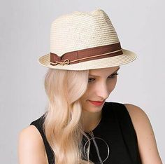 British style bow straw sun hat for women UV protection fedora hats