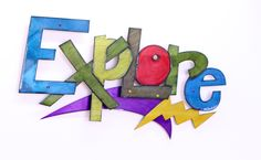 """""""Explore"""" is part of our action graffiti series by Kristin DeSantis on display at Renown Children's Hospital."""