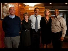 A Firefighter, a Postal Worker, a Veteran, and an Educator Have Dinner with Barack