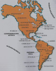 """El """"Paleoindio Americano o los Orígenes Culturales"""".  Making connections to other disciplines. Geography Map, Teaching Geography, Central America Map, Physical Properties, Earth Surface, Make Tattoo, Country Art, Historical Maps, American Revolution"""
