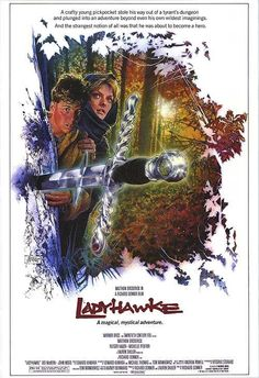 "MP816. ""Lady Hawke"" Movie Poster by Drew Struzan (Richard Donner 1985) / #Movieposter"