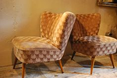Pair of cocktail chairs. Available at Reginald Ballum.
