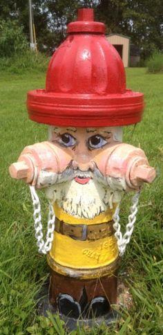 """Route 66 Sullivan, Missouri Fire Hydrant """"Gnome"""""""