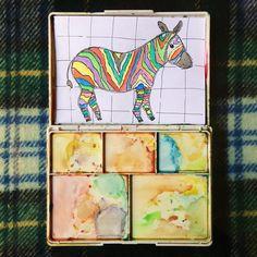 "52 Likes, 4 Comments - Winona Rianur (@winonarianur) on Instagram: ""ekspektasi : mau gambar zebra yang beda, yang colorful realita : jadinya gambar keledai ketumpahan…"""