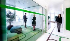 I have just pinned new pin on our office design // green board via @officesnapshots