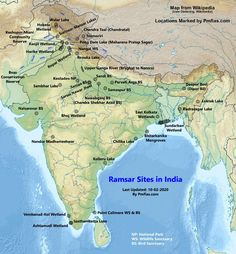 Geography Map, Geography Lessons, Upsc Notes, Ias Study Material, Indian Constitution, Wetland Park, National Parks Map, India Map