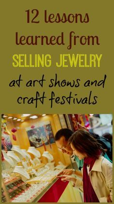 Jewelry Making Ideas A bunch of great ideas from an artist with over a decade of art show and craft fair experience. - 12 lessons learned from selling jewelry at art shows and craft festivals. Written by an artist with over a decade of selling experience. Fun Craft, Craft Sale, Jewelry Crafts, Handmade Jewelry, Cheap Jewelry, Sparkly Jewelry, Silver Jewelry, Fine Jewelry, Inexpensive Jewelry
