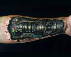 Resultado de imagen para mechanical tattoo sleeve