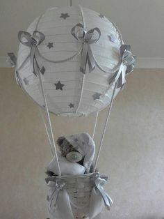 Hot Air Balloon light lamp shade with Tatty Teddy/ by Babyshades