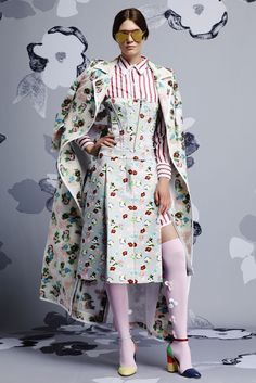 Thom Browne Resort 2015. This seems really weird and conceptual for resort wear. I like the futuristic meemaw vibe, though.