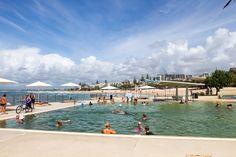 Kings Beach tidal pool in Caloundra on the Sunshine Coast Australia Capital, Australia Beach, Coast Australia, Visit Australia, Australia Travel, Queensland Australia, Best Beaches To Visit, Places To Visit, Travel Around The World