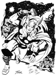 The Mighty Thor by Jack Kirby and Paul Smith  From Jack Kirby's Heroes and Villains Black Magic Edition.
