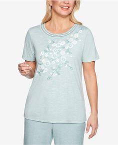258e654b41 Alfred Dunner Petite Monterey Embellished Short-Sleeve Top Embellished  Shorts